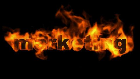 marketing,burning business key word Animation