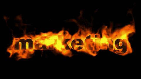 marketing,burning business key word Stock Video Footage