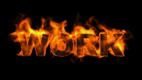 burning work text,business fire key word Stock Video Footage
