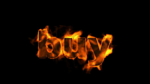 buy word,business fire key word Stock Video Footage