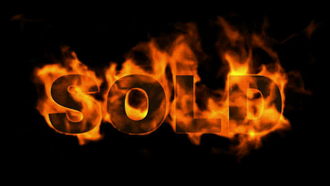 burning sold word,hot sold Animation