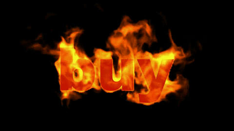 buy word,business fire key word Animation