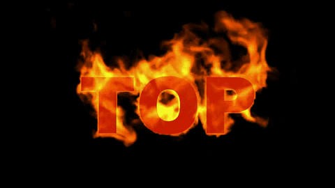 top,fire word Animation