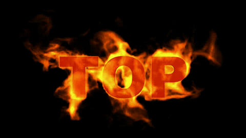 top,fire word Stock Video Footage
