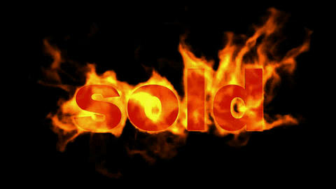 burning sold word,hot sold Stock Video Footage