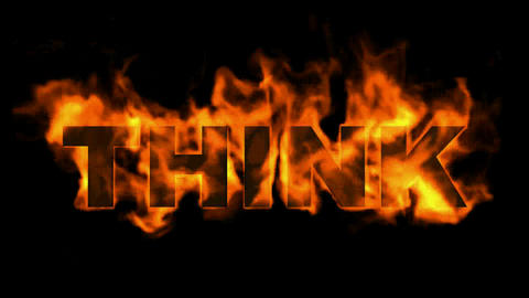 fire think word Animation