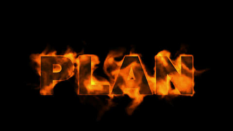 burning plan word,business fire key words Stock Video Footage