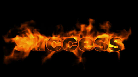 success fire text,burning business key word Stock Video Footage