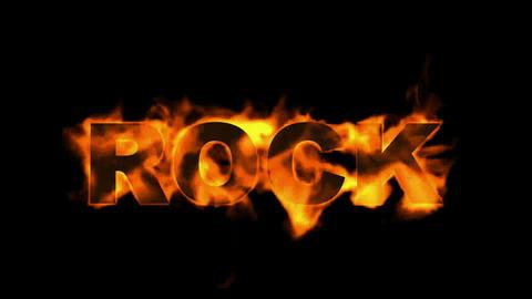 fire rock word Stock Video Footage