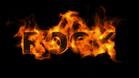 fire rock word Animation