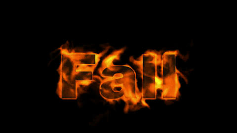 fire fall word Stock Video Footage