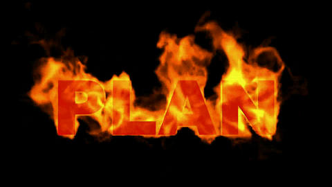 burning plan word,business fire key words Animation