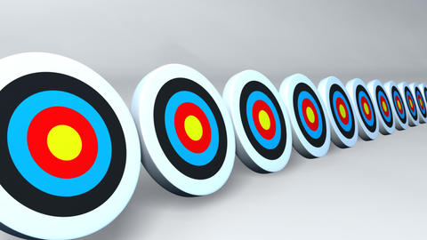 targets and arrows color day Stock Video Footage