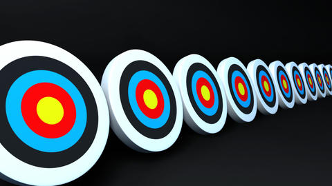targets and arrows color Stock Video Footage