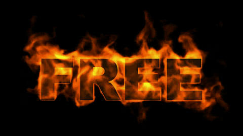 fire free word,burning sale sign Stock Video Footage