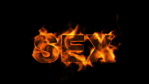 burn sex word,fire text Stock Video Footage