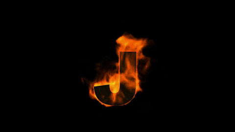 fire letter j Animation