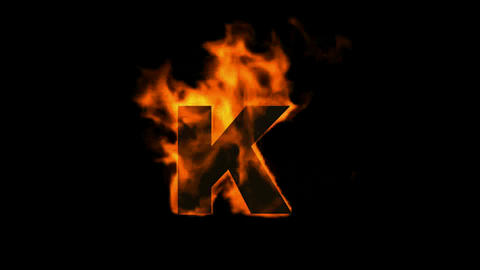 fire letter k Animation
