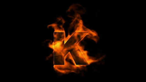 fire letter k Stock Video Footage