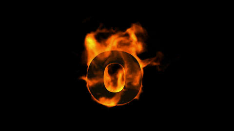 fire letter O Animation