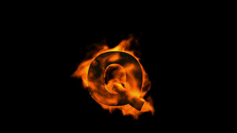 fire letter Q Stock Video Footage