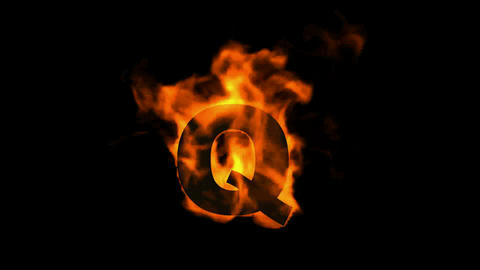 fire letter Q Animation