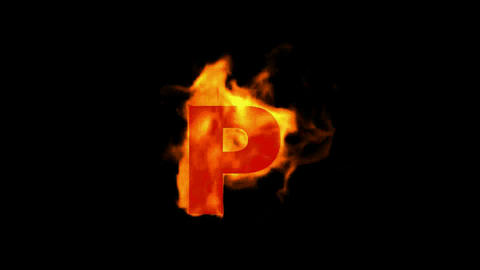 fire letter P Stock Video Footage