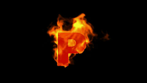 fire letter P Animation