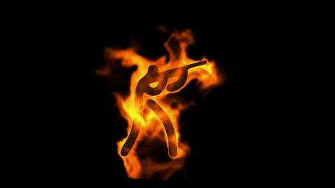 burning fire sport shooting sign Stock Video Footage