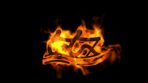 burning fire rowing athlete icon Stock Video Footage