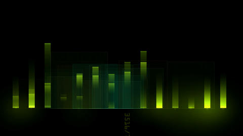 green background equalizer,music rhythm... Stock Video Footage