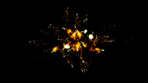 Golden Fireworks and flicker stars,holiday.Missiles,weapons,explosives,military,war,arms,arsenal,fir Animation