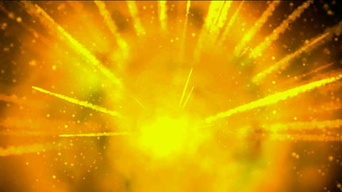 explosion fireball and smoke in universe,gold missle and... Stock Video Footage