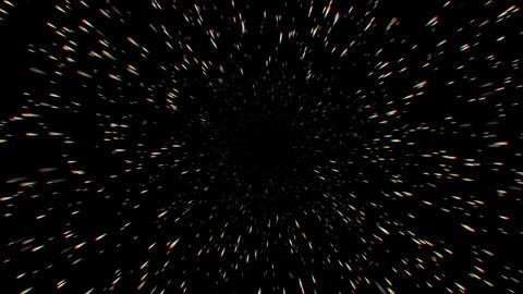 Universe burst particle motion in space,bullet flying Animation
