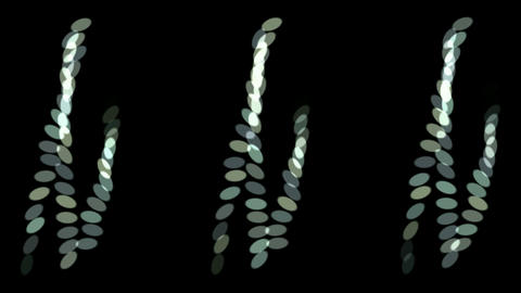 rotation oval array pattern,rope,stirring,chain Stock Video Footage