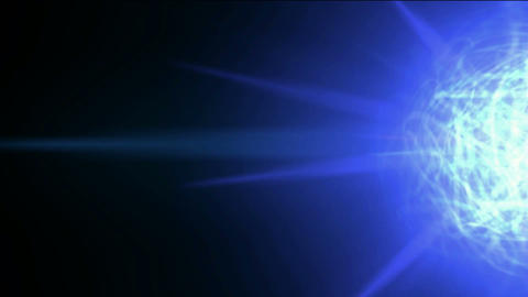 blue nebula and whirl cable fiber optic,disco neon mirror... Stock Video Footage
