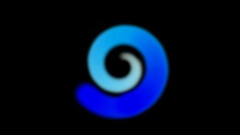blue clockwise circle,radar scan,swirl... Stock Video Footage
