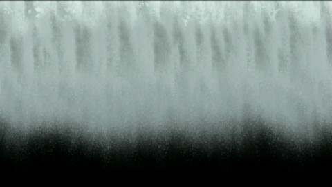 waterfall or avalanches scene-digital animation Stock Video Footage