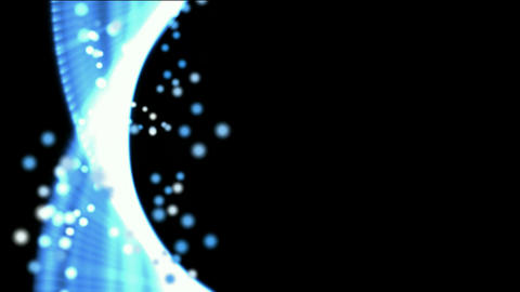 Blue spiral genome and particles,tech... Stock Video Footage