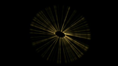 golden rotation ray light in space,The birth of stars,explosion Animation