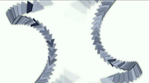 moving arrow and triangle cards array,business computer... Stock Video Footage