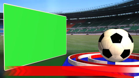 Football News Update Broadcast Television Text Green Screen Red Blue Color stock footage
