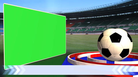 Football News Update Broadcast Television Text Line Green Screen Animation