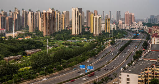 4K Highway Time Lapse in China Footage