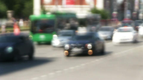 Defocused car traffic in the city Footage