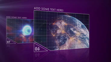 Futuristic Video Slideshow stock footage