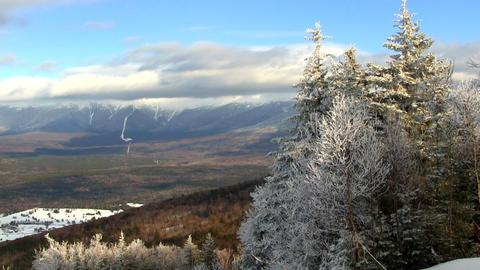 Mount Washington from ski slope Footage