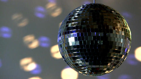 Full mirror ball; blue and white light Footage