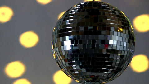 Full Mirror Ball; Yellow Light stock footage