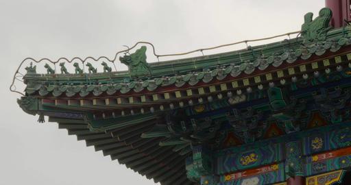 4K Drum Tower Closeup Tianjin China Live Action